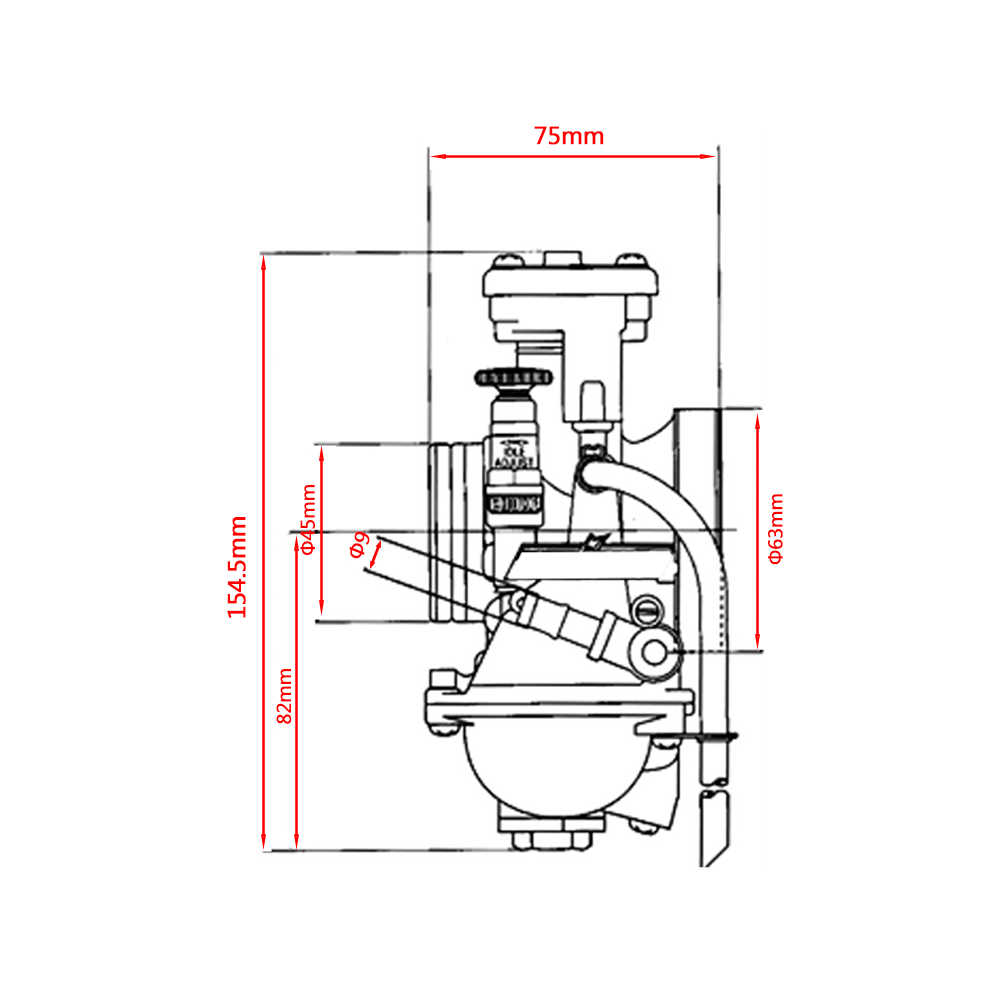 zsdtrp keihin 34 36 38 40mm pwm motorcycle carburetor 2t 4t engine scooters with power [ 1000 x 1000 Pixel ]