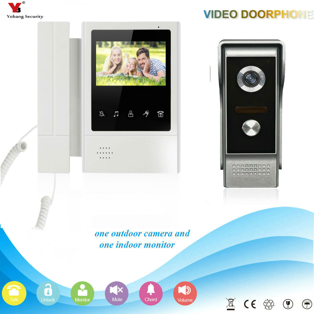 Video Intercom Yobang Sicherheit 4,3 Zoll Farbe Monitor Video Tür Telefon Türklingel Intercom Kit Wasserdichte Hd Kamera Nachtsicht Für Wohnung Kaufe Eins Bekomme Eins Gratis