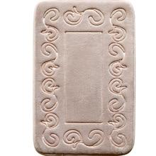 Ванная комната Нескользящие ковер Европейский Стиль медленный отскок губки Pad Ванная комната туалет подушки абсорбент коврик пены памяти коврик для ванной
