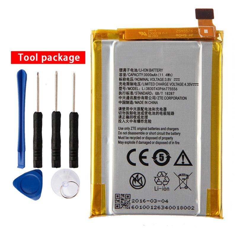 Bateria original do telefone de li3830t43p6h775556 para zte axon a1 axon a2015 tianji a2015 TD-LTE lâmina dupla v7 max