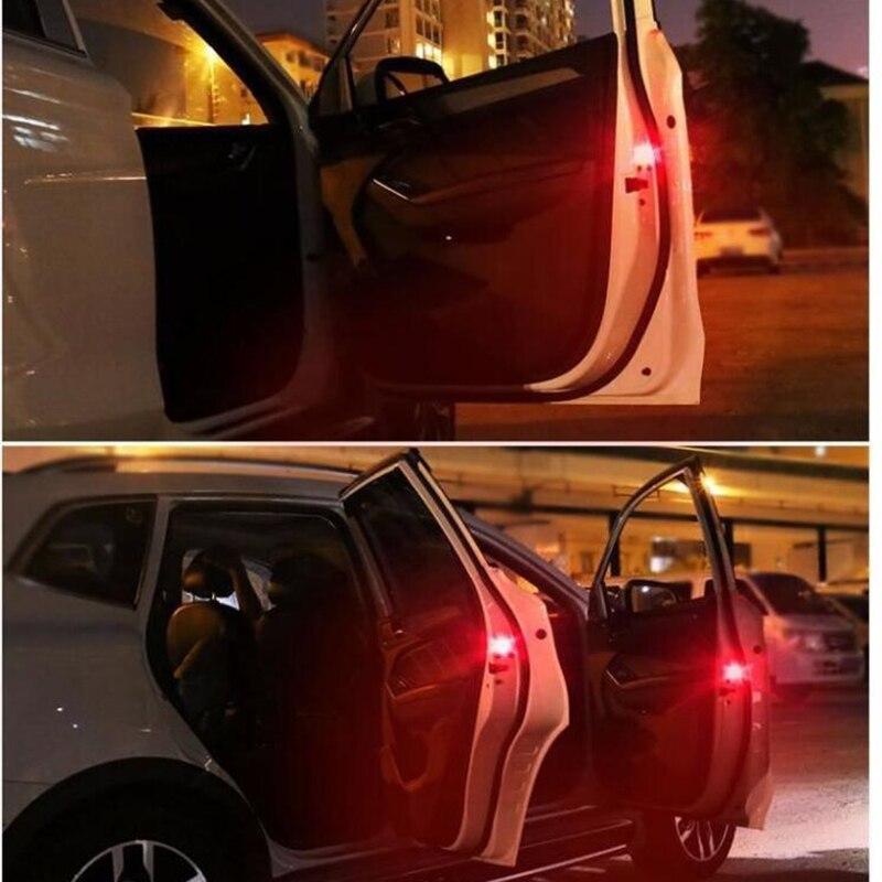 2 stücke Auto Tür Lichter drahtlose Rote LED Warnung Lampe ...