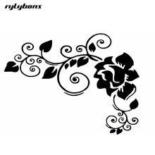 Rylybons 제 2 하프 가격 자동차 스티커 꽃 16*12 cm 3d 애니메이션 바디 자동차 스타일링 스티커 꽃 패션 스티커 및 데칼