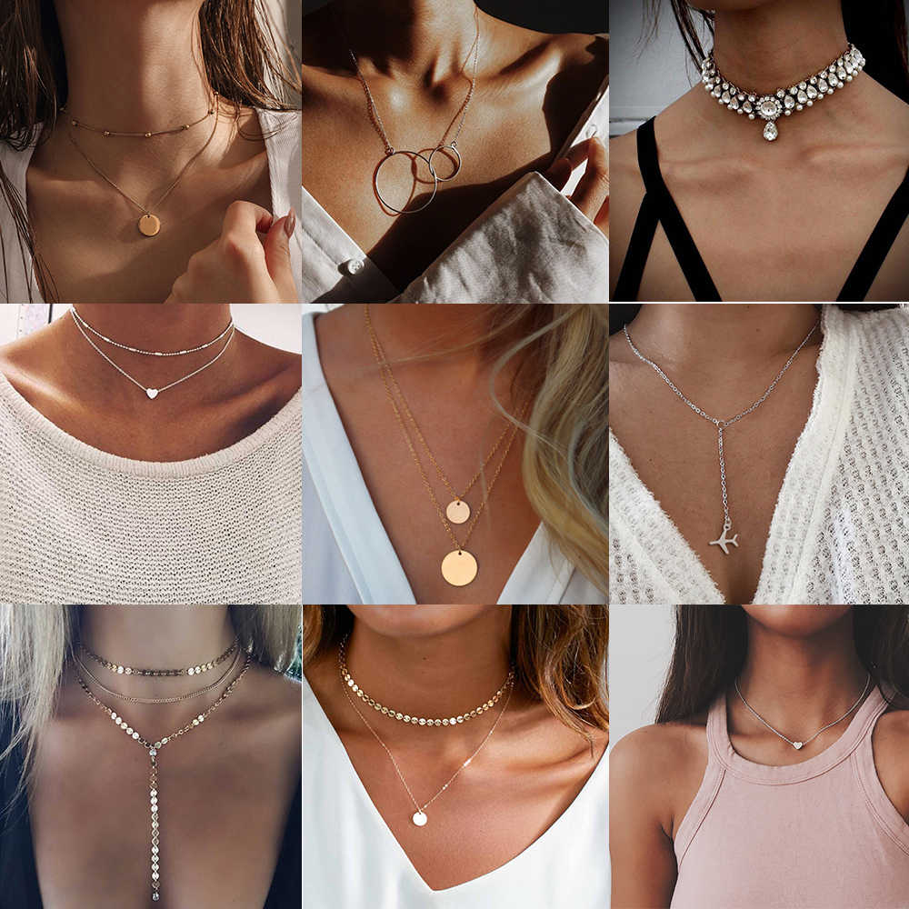 VKME gold necklace ladies luxury necklace necklace classic fashion jewelry best gift for friends