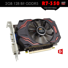 ALSEYE Heatsink and Fan Graphic Card R7 350 2GB 128Bit DDR5 GPU Video Cards VGA+DVI+HDMI PCIE X16 for Gaming
