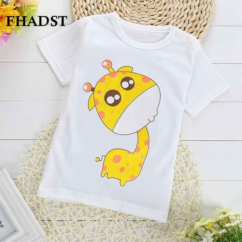 FHADST 2016 New Summer Novelty Boys T-Shirts Children Cotton Girls Clothes Baby Short Sleeves Character Sport Tops Casual Lovely
