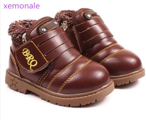 New-Style-Kids-Boots-Boys-Girls-Boots-Children-Autumn-Winter-Shoes-Warm-Fur-Snow-Martin-Boots-Fashion-Thicken-Cow-Muscle-Boots-1