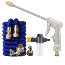 Water Gun Garden Hose Nozzle Water Spray Adjustable High Pressure Power Washer For Plant Flower Household Cleaning Car Washer
