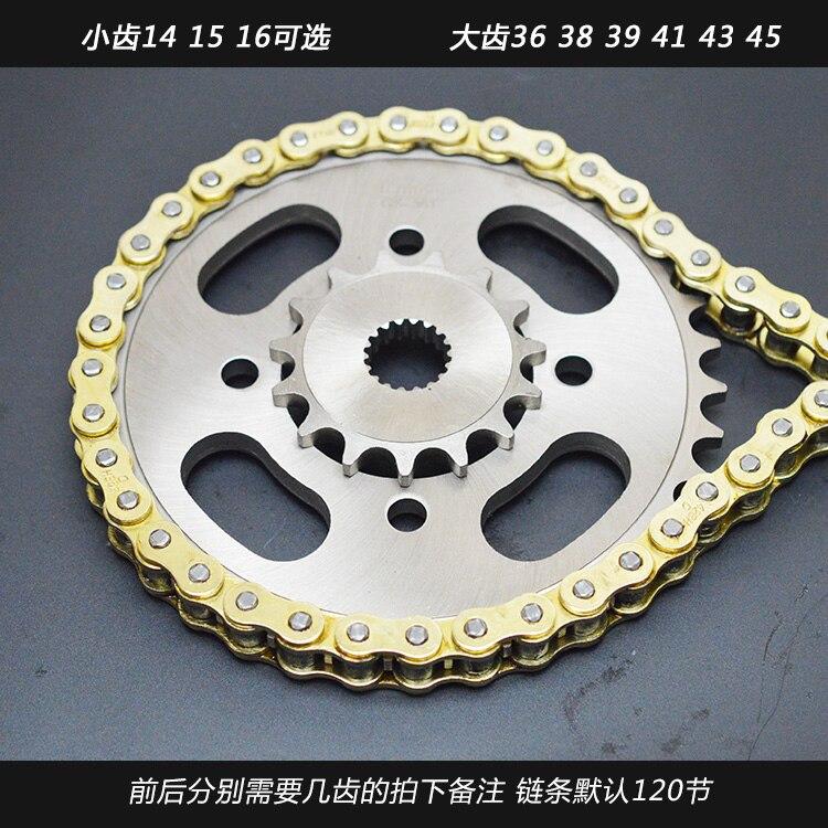EN GS125 Taizi car 36-39-41-43 dent moto pignon arrière grandes pièces de pignon EN acier raffiné réaménagé