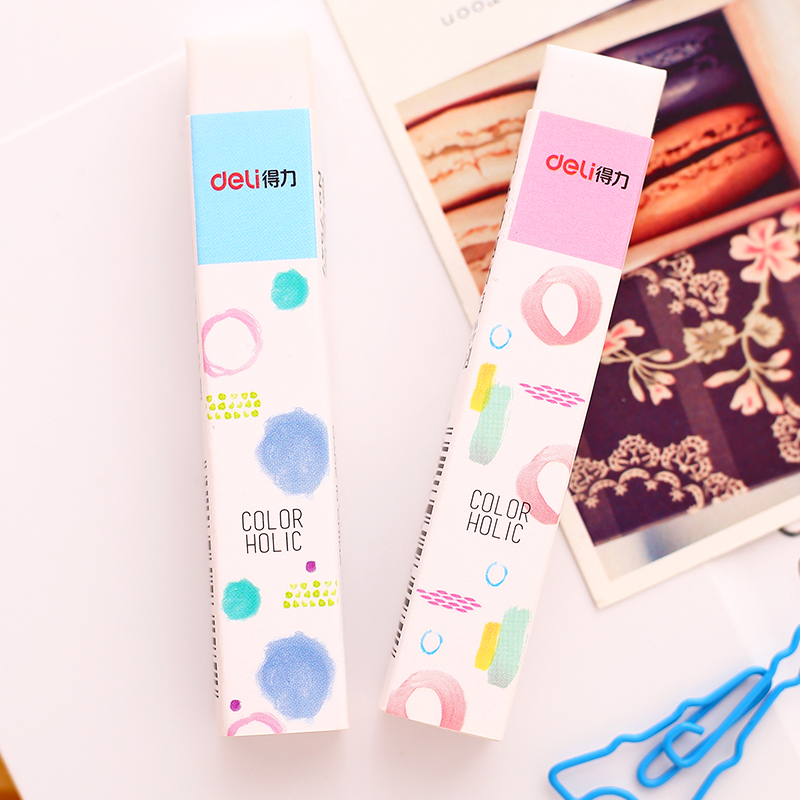 1Pc Long Rubber Eraser Carton Pencil Erasers Kawaii School Stationery School Material Kids Gift