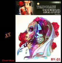 3 d tatuaje temporal color de la máscara del fantasma baisha tatuaje en el de la para mujer para hombre de arte corporal tatuaje pegatinas por-01