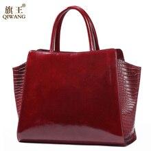 Qiwang Cow Leather Women's Hand Bag Fashion sac main femme 2019 Shoulder Crossbody Bags Real Leather Handbag Ladies Bags
