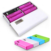 (No Battery) 5×18650 DIY Portable Battery Power Bank Shell Case Box LCD Display Dual USB Powerbank Case DIY KIT Powerbank 18650