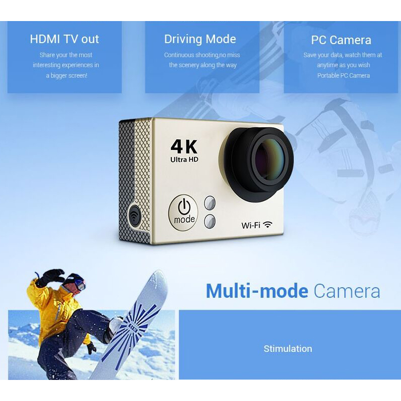 EKEN Ultra HD 4K WIFI H2 Action camera 1080p 60fps Video Sportssport Camera 170 degrees Wide Angle Hero sj helmet waterproof Cam