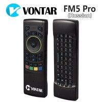 VONTAR 러시아어 영어 i25 플라이 에어 마우스 2.4 천헤르쯔 무선 키보드 IR 원격 모션 감지 게임 콤보 FM5 프로 안드로이드 상자 PC