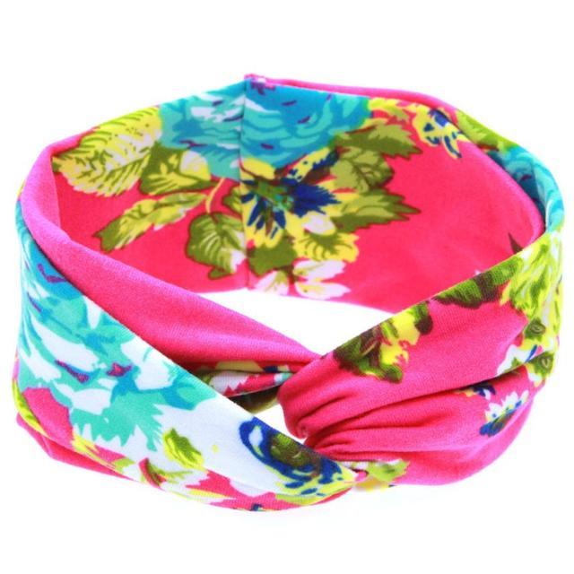 520 Head Bands For Kids Girls Print Color FLOWER Rabbit Ears Elastic Hair Flowers