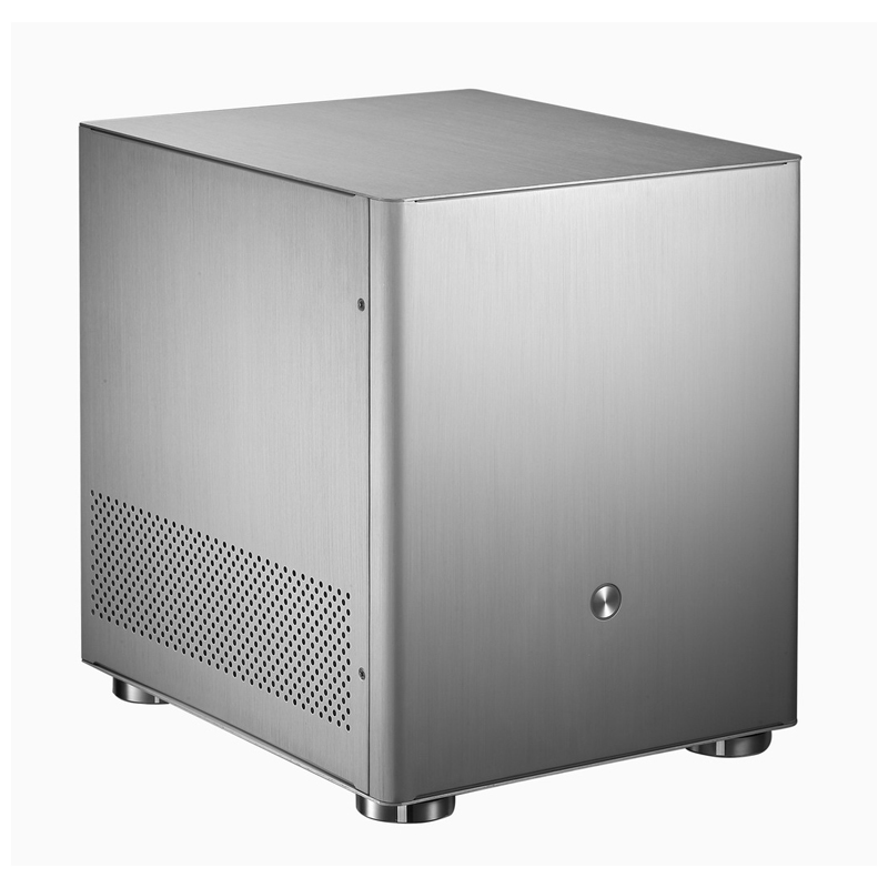 Алюминиевый компьютер чехол корпуса HTPC бронирование В4 серебристый Поддержка модель материнской платы ITX