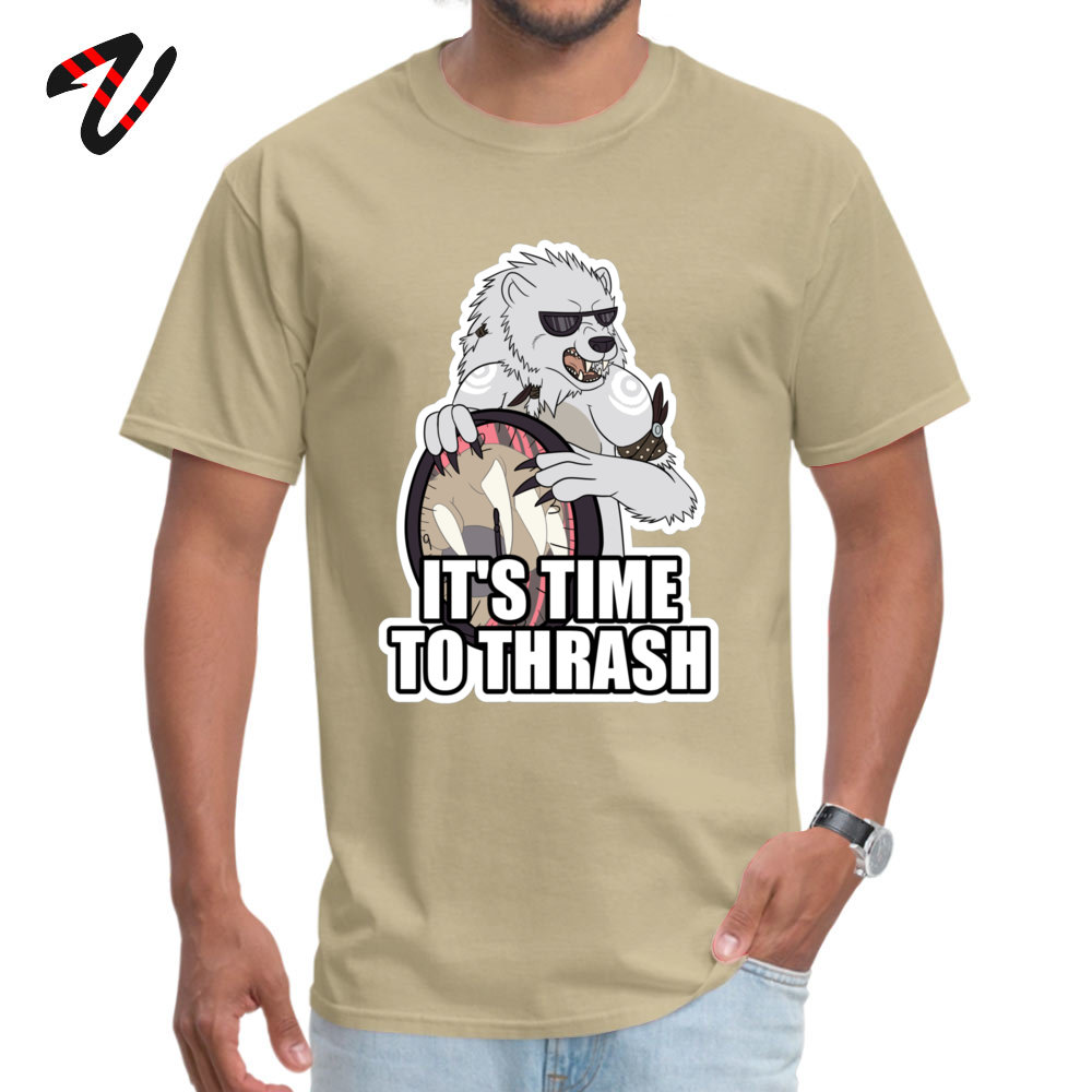 Gift Casual Printing Short Sleeve Summer T Shirt Hip Hop O Neck Cotton Tee Shirt Young T Shirt Drop Shipping ITS TIME TO THRASH White [Redbubble exclusi beige