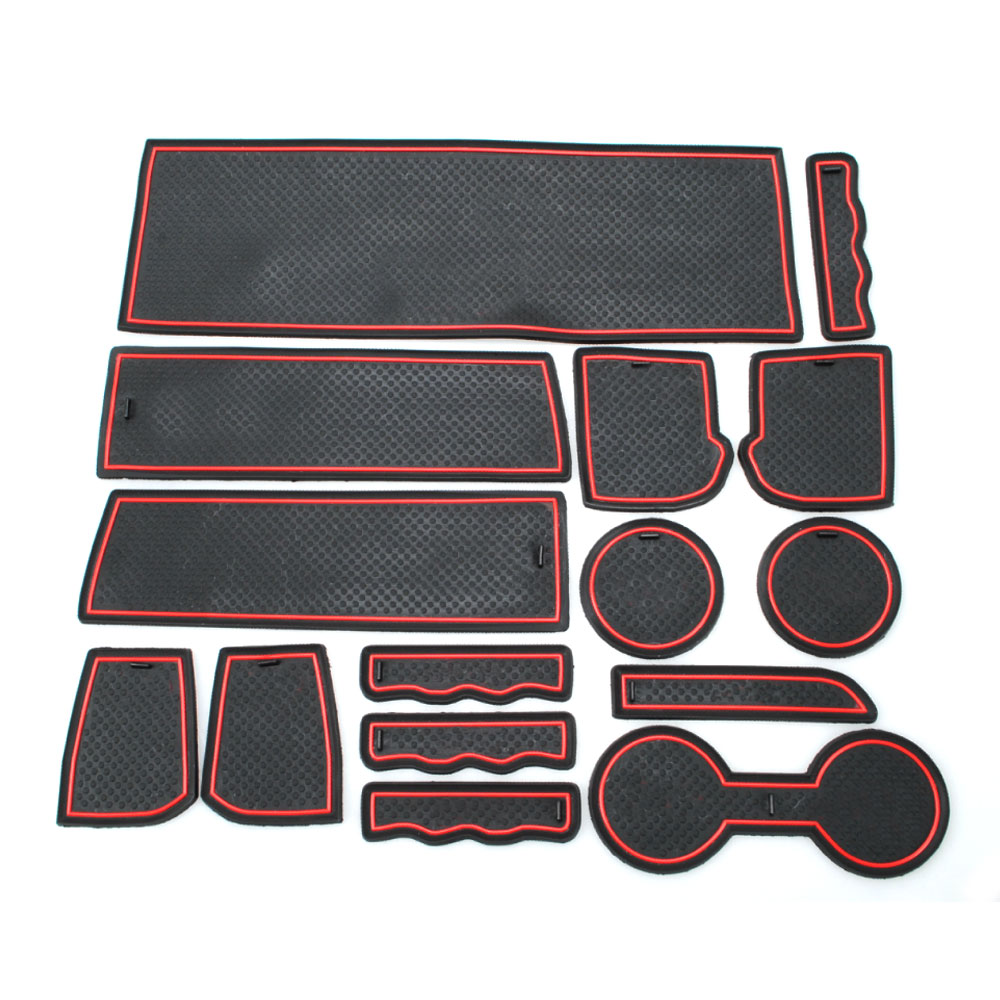 Floor mats jeep compass - 15pcs Set Rubber Gate Slot Pads Car Cup Mats Non Slip Floor Mats For