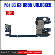 16gb for LG G3 D855 Motherboard with Android System,100% Original unlocked for LG G3 D855 Logic Boards,Free Shipping(China)
