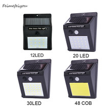 Solar Lights Outdoor 12 20 30 48 LED Super Bright PIR motion sensor 3 Modes Switch Wireless Waterproof Solar Powered Security(China)