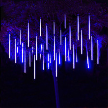 30CM 50CM Tube Meteor Shower Rain LED Lights 8 Tubes Garland Christmas Trees Decoration Outdoor Garden Park Street Luces Navidad все цены