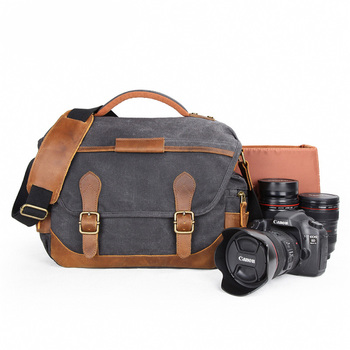 Batik Canvas Vintage Retro Waterproof Photography Digital SLR Photo Shoulder Camera bag Casual Messenger Photo Men Or Women Bag