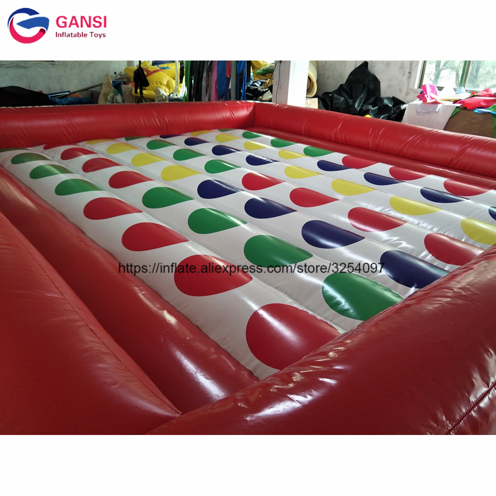 5*5m inflatable twister board game bouncers for team sport PVC floating inflatable twister jumping mat inflatable twister game