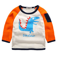 Oys Long Sleeve Tops 2017 Brand Autumn Clothing Baby Boy Dinosaur Animal Pattern Children T Shirts