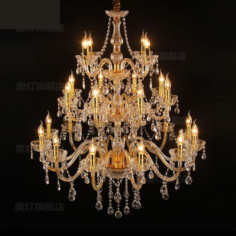 hotel lobby Luxury Chandelier led Lamparas Clear crystal lighting For living room Villa Hall 24-40 pcs Gold ceiling Chandeliershotel lobby Luxury Chandelier led Lamparas Clear crystal lighting For living room Villa Hall 24-40 pcs Gold ceiling Chandeliers