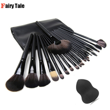 Factory Price!!  24pcs Proffessional Makeup Brushes Set Eyeshadow Blush Foundation Brush with Sponge Powder Puff Cosmetic Tool