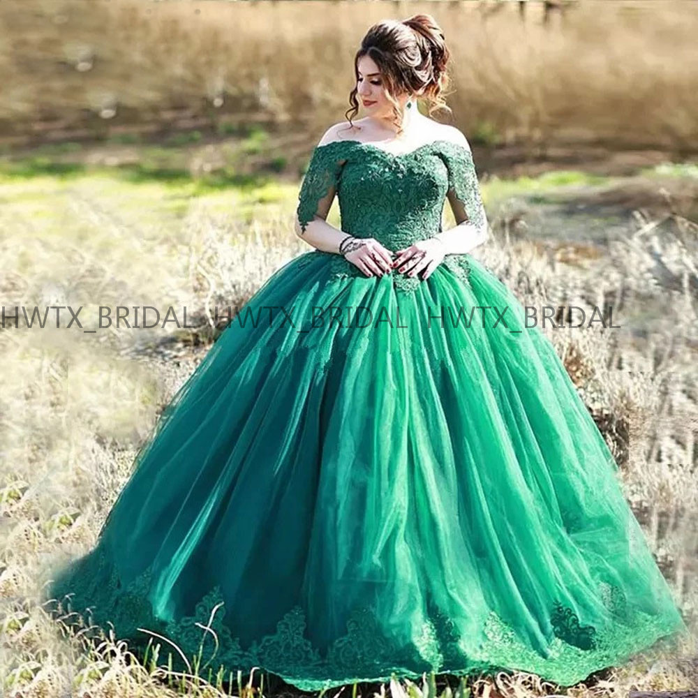Quinceanera Dresses 2019 Plus Size Long Sleeve Off The