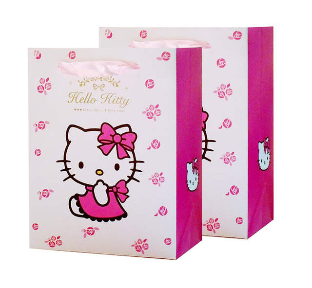 b490cadd55c2 Gift bag Cute Hello Kitty cartoon package for girls kid lovely handbag good present  packing Environmental