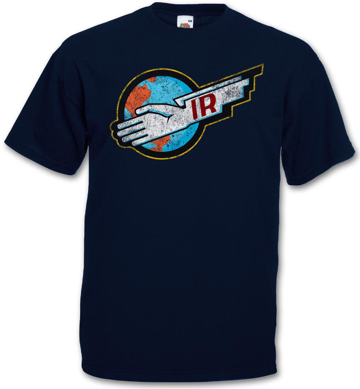 THUNDERBIRDS IR LOGO T-SHIRT - Gerry Sylvia Anderson International Rescue Shirt Original Tops Novelty