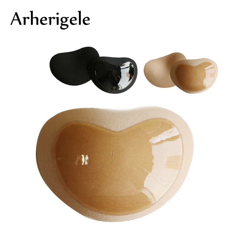 Arherigele 1pair Womens Enhancer Chest Pad Silicone Inserts Breast Pad Sexy Nipple Cover Self Adhesive Push-Up Swimsuit Bra Pad