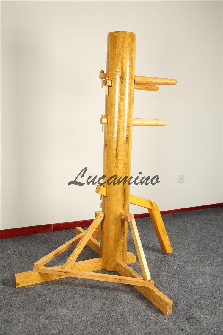 Mannequin en bois wing chun avec vidéo d'apprentissage et cadeaux pour vous. Foshan Triangle cadre aile Chun Kung fu en bois nuls en gros