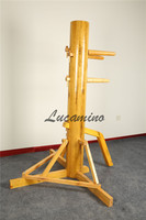 wing chun wooden dummy with teach video and gifts for you. Foshan Triangle frame Wing Chun Kung fu Wooden Dummies wholesale
