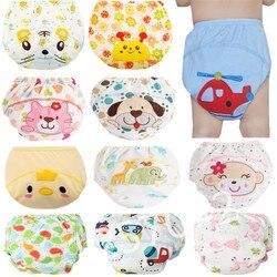 1 шт., милые детские подгузники, многоразовые памперсы, тканевые подгузники, моющиеся Детские хлопковые тренировочные штаны для малышей, тру...