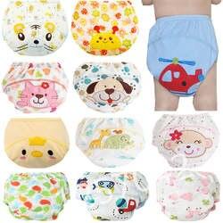 1 шт. милые детские подгузники многоразовые подгузники тканевые пеленки стирать Младенцы Дети Детские хлопок тренировочные брюки трусики