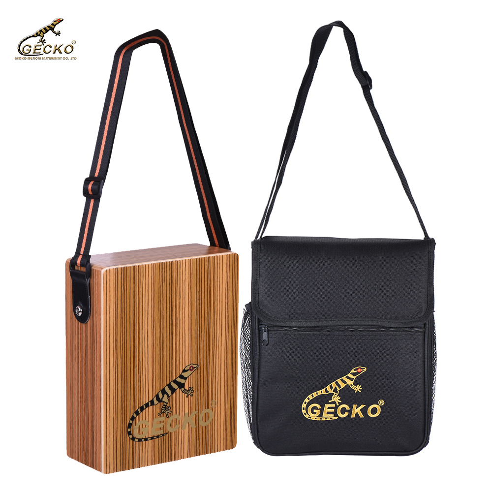 Sports & Entertainment Musical Instruments Realistic Gecko C-68z Portable Traveling Cajon Box Drum Hand Drum Zebra Wood Percussion Instrument With Strap Carrying Bag