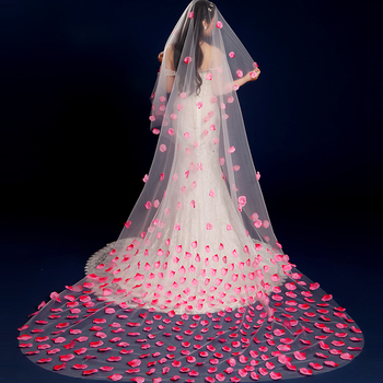 Wedding veil 2017 korean style roseleaf 3 meters long trailing soft yarn wedding accessories short bridal.jpg 350x350
