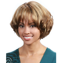 Short Curly Blonde Wigs Synthetic Short Highlight Hair Wigs African American Wig For Black Women Cosplay Lolita Wigs