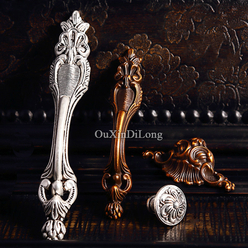 Top Designed 10PCS Furniture Handles European Antique Style Drawer Wardrobe Cupboard Kitchen Cabinet Door Pulls Handles & Knobs
