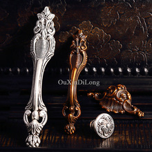 Top Designed 10PCS Furniture Handles European Antique Style Drawer Wardrobe Cupboard Kitchen Cabinet Door Pulls & Knobs