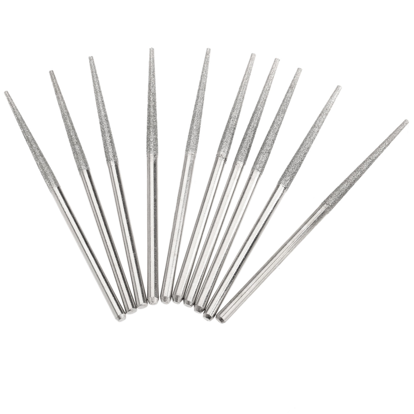 10Pcs Dremel Accesories Mini Drill Diamond Grinding Rods 3mm Shank Bur Bit Diamond Grinding Needle Grinding Carving Tool