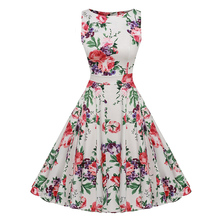 New Summer Dress Women 2018 Sleeveless Tunic 50s & Vintage Dress