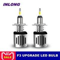 INLONG H11 9005 9006 автомобилей светодио дный лампа фары H7 H9 H4 D2S D1S HB4 D3S H1 D4S SAMSUNG CSP 60 Вт 11200LM фары противотуманные фонари 6500 K