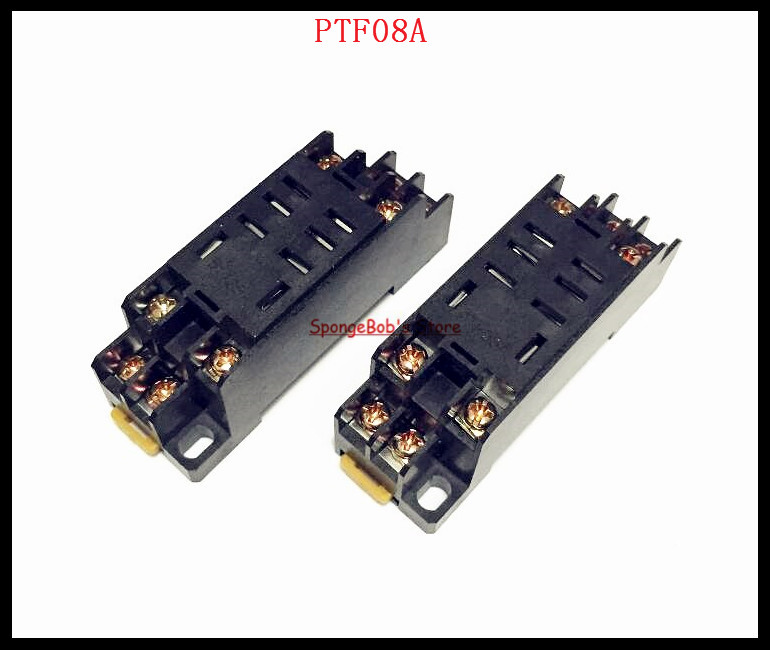 4--10pcs/Lot PTF08A 8 Pin Mini Relay Socket Base For LY2NJ,HH62P,JQX-13F/2Z,HHC68A-2Z hot new relay jqx 105f 4 220a 1hst 220vac jqx 105f 4 220a 1hst hf105f 4 220a 1hst 220vac ac220v 30a 240vac dip4 10pcs lot