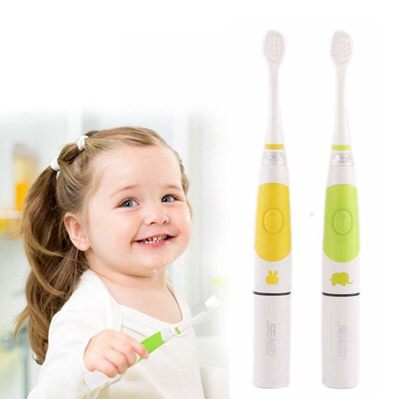 Child Electric Toothbrush SG-618 With 3 Brush Heads New Intelligent Kids LED Light  Baby Soft-bristle Sonic FREE SHIPPING аксессуар xlc kids maui sg k05