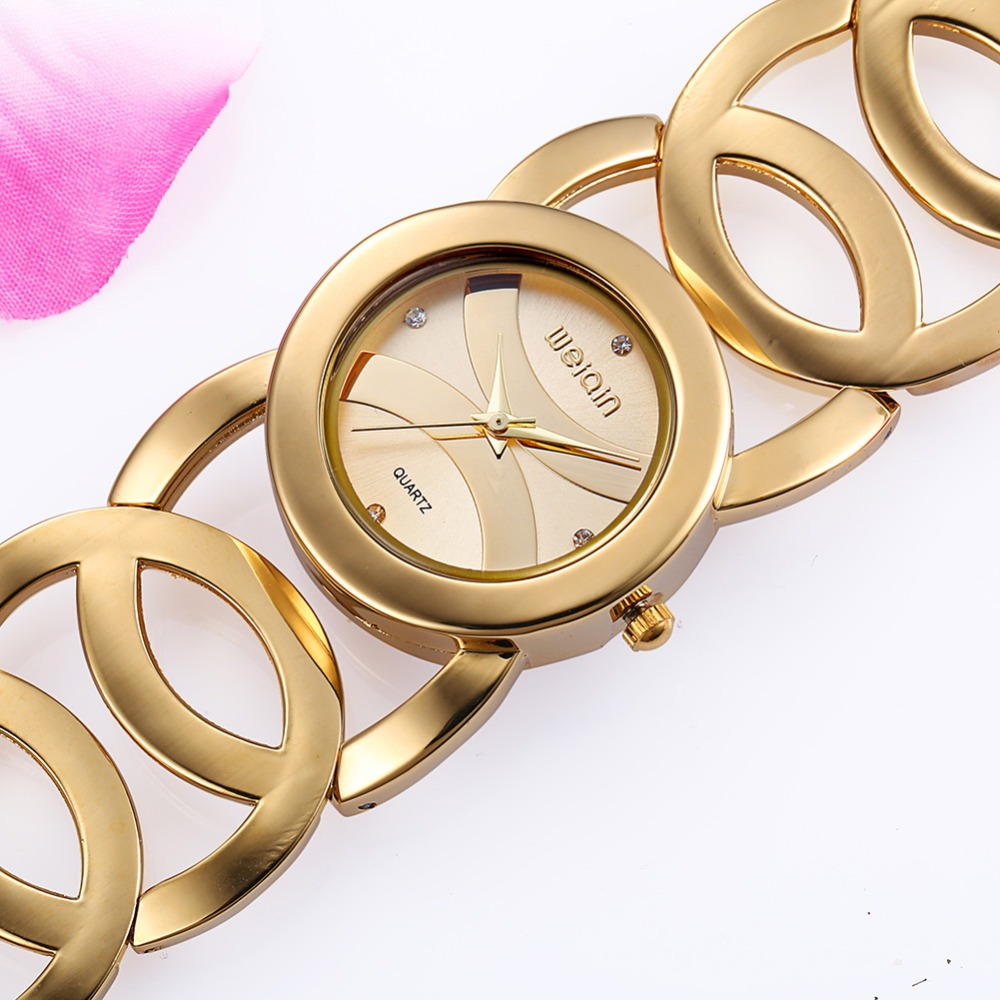 f4898fcf35d Fashion Bracelet Quartz Watch Women Brand Luxury Crystal Gold Watch ladies  clock gift Waterproof Relogio Feminino orologio donna
