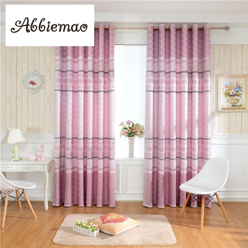 abbiemao simple modern style purple jacquard curtain for